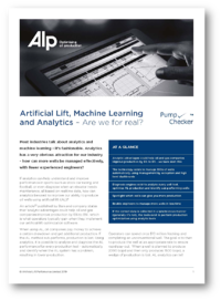 Tech Paper Artificial Lift Machine Learning and Analytics 2019